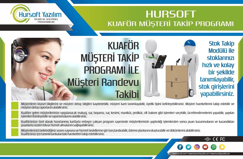 hursoft kuaför müşteri takip programı